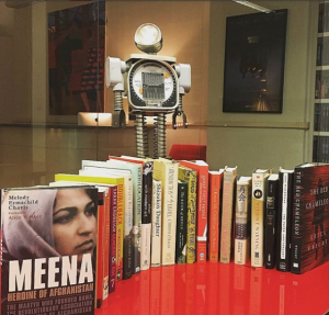 follow our robot mascot's Instagram @arlattareads!